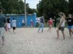 Redneck Sand Volleyball- city slickers