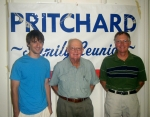 3 generations of the Mark Pritchard family: Joe Pritchard, Mark Pritchard, and Don Pritchard.