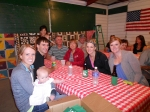 At Table(L-R): Cora, Lori Pritchard, Joe Pritchard, Crystal Spelic (and Blake), Don & Deb Pritchard, Amy Pritchard, Susa